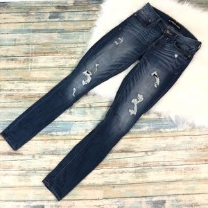 Express Distressed Mia Mid Rise Jeggings Size 2